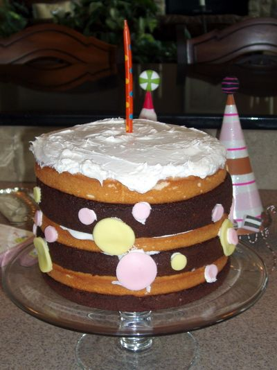 Birthday Cake, Signature, Single Candle