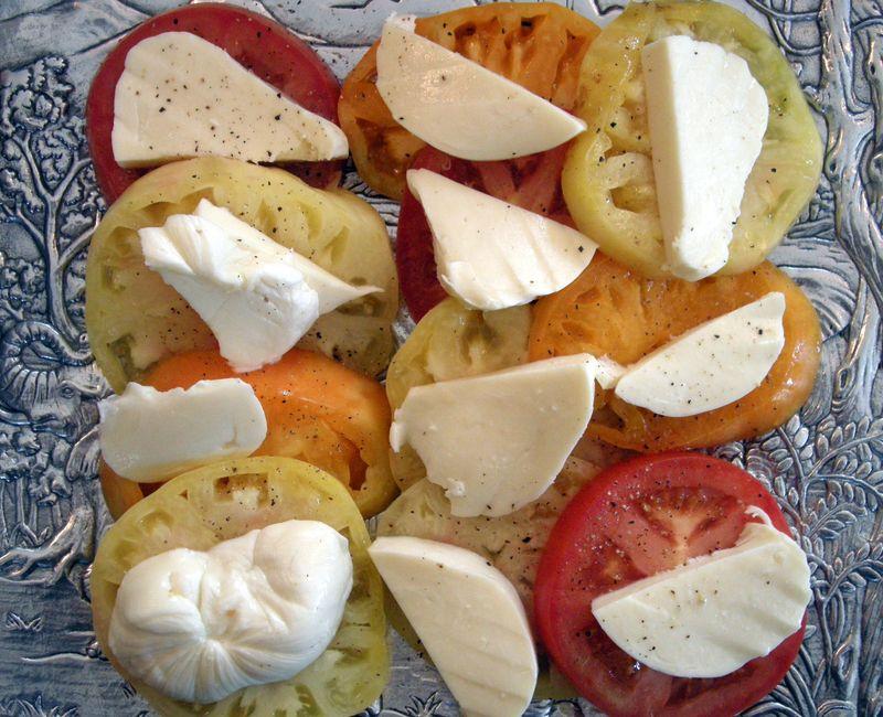 Heirloom Tomato and Mozzerella Salad